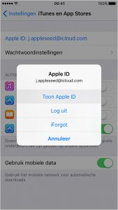 iTunes mobiel